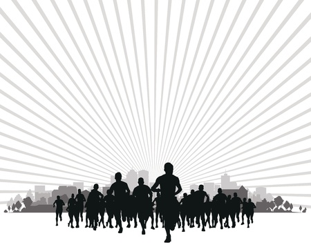 maratón: Skupina běžců
