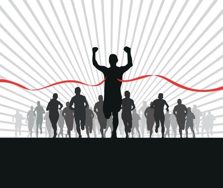 Gruppe von Läufern Vektorgrafik