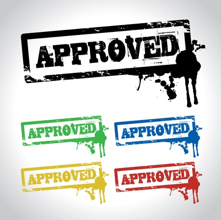 approved sign stamp Stock Vector - 11348927