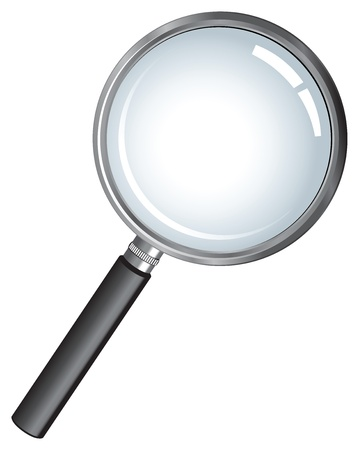 magnification icon: magnifying glass  Illustration