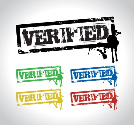 verified: verified sign stamp