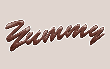 yummy chocolate Vector