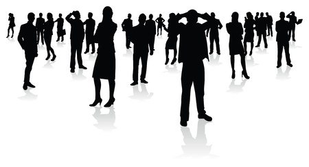 silouettes: business people silhouettes