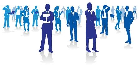 trabajadores: la gente de negocios