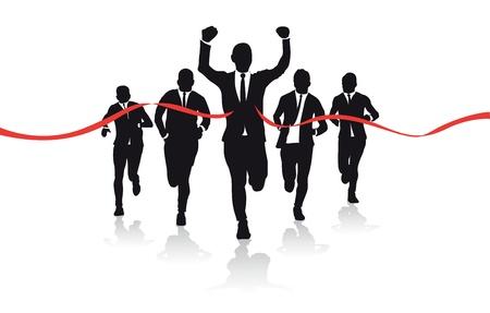 Un grupo de corredores de negocios siluetas
