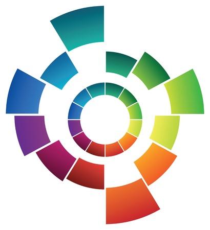 la forma abstracta de color Ilustración de vector