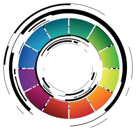 la forma abstracta de color