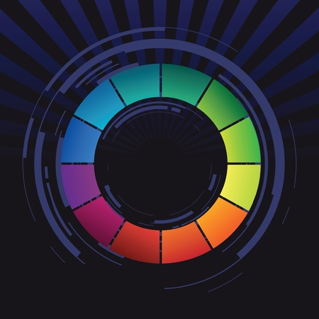 colour wheel: abstract color shape