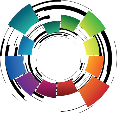 abstract color shape Vector