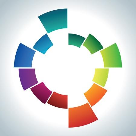 espiral: la forma abstracta de color Vectores