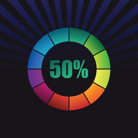 colorful percentage symbol Vector