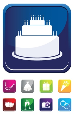 cake wedding symbol Vector