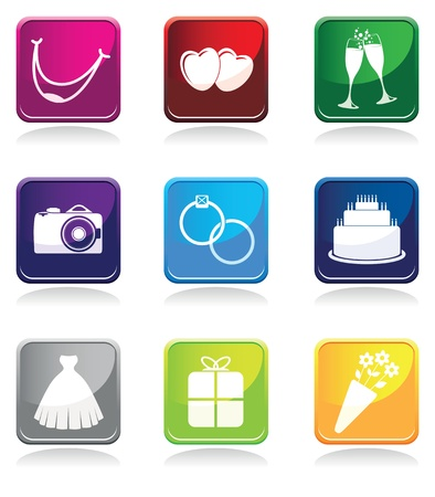 multi colored wedding symbols