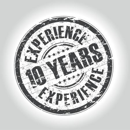 경험: 경험 10 년 우표