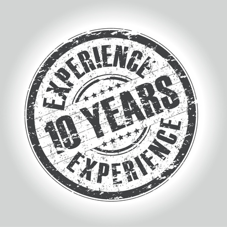 10 years experience stamp Vector