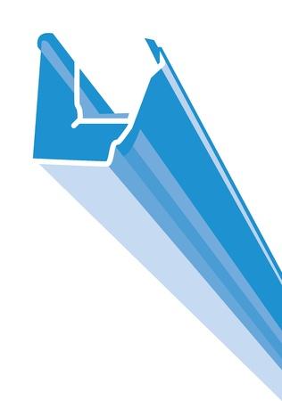 canalones Ilustración de vector