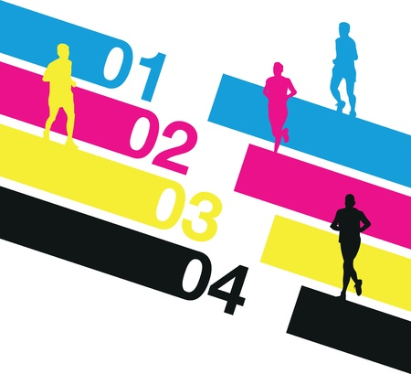 running background Vector