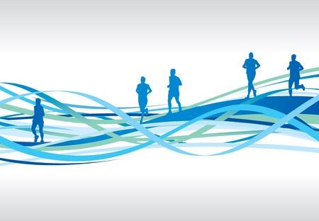 aerobic: running background