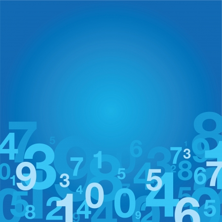 number background Stock Vector - 14170691