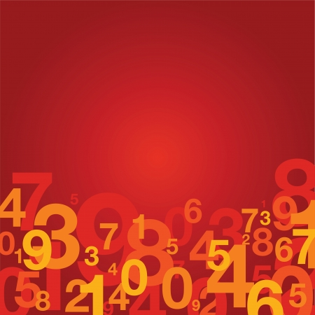 jumbled: number background