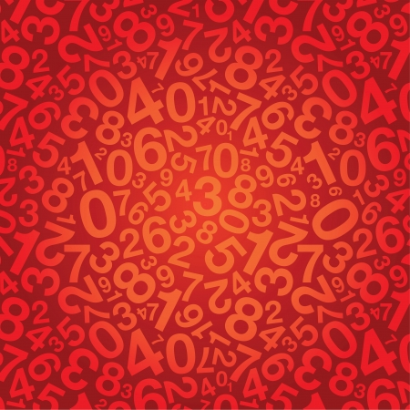 number background Stock Vector - 14170692