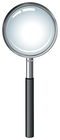 realistic magnifying glass Stock Vector - 14307976