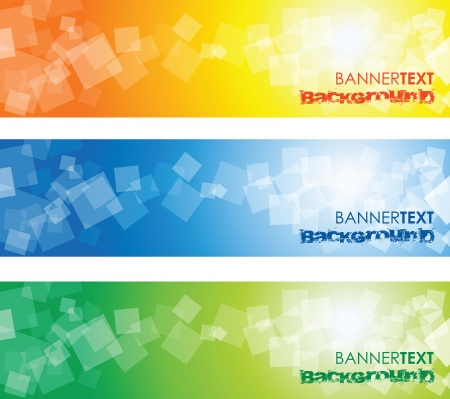abstract square banners Vector