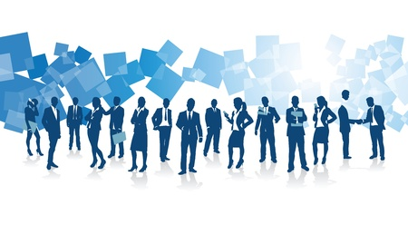 jovenes en grupo: la gente de negocios de fondo Vectores