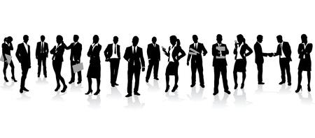 foules: les gens d'affaires de fond
