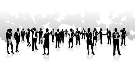 mensen uit het bedrijfsleven achtergrond