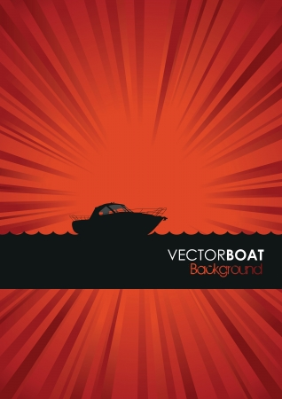 boat silhouette background Vector