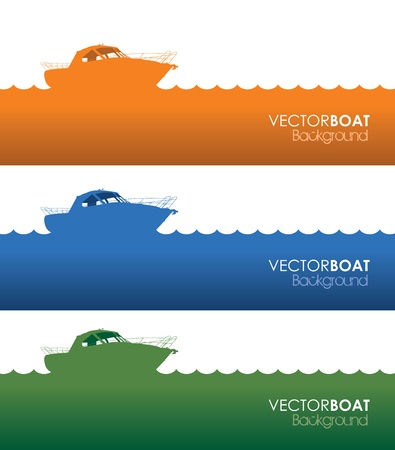 speed boat: set of three boat banners