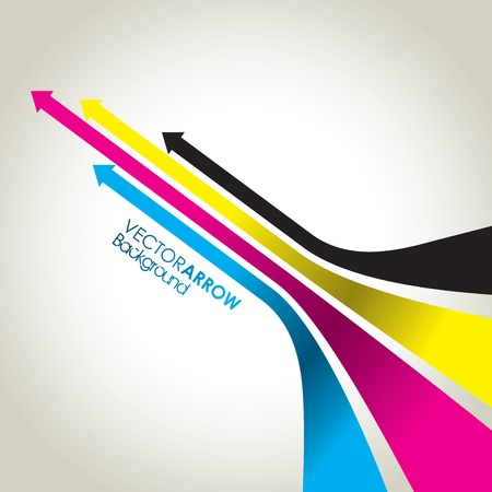 cmyk abstract arrow background Vector