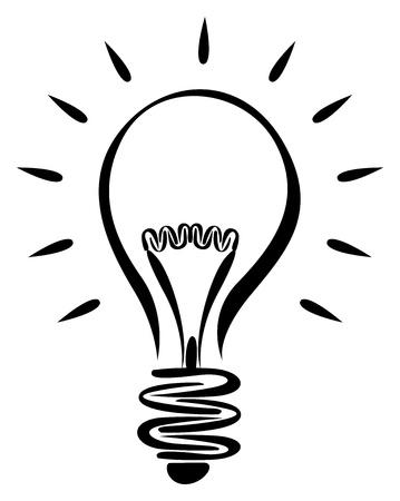 lightbulb idea: lampadina idea