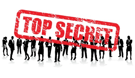 private security: top secret business people  Illustration