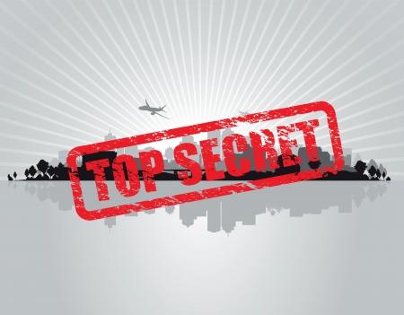top secret cityscape background Stock Vector - 14691275