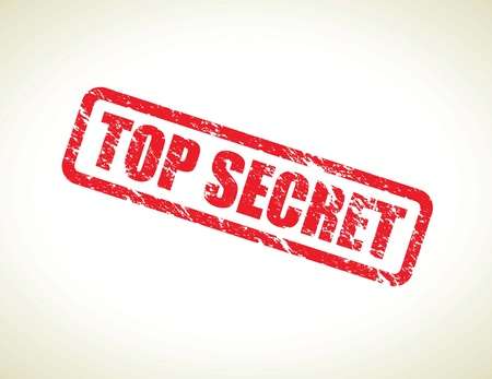 secret information: top secret  Illustration