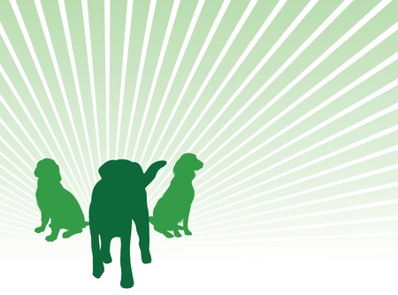 dog silhouette background Vector