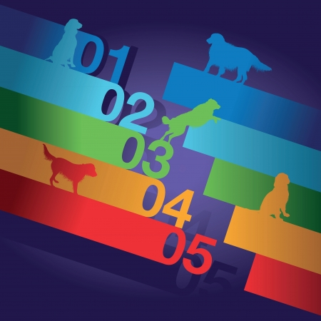 dog number background Vector