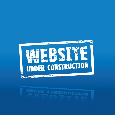 web page under construction: website construction  Illustration