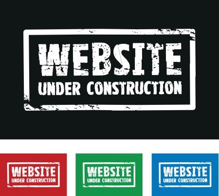 website construction  Vector
