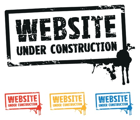 building site: website construction  Illustration