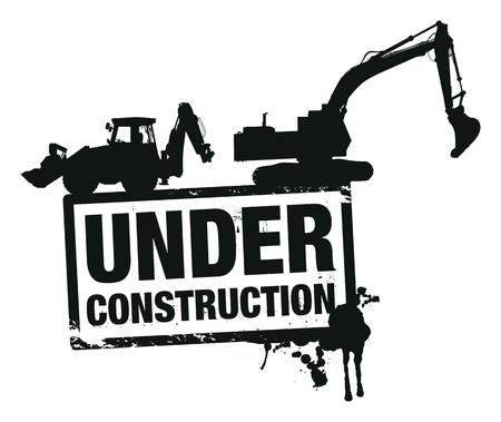 bouwkraan: website bouw Stock Illustratie