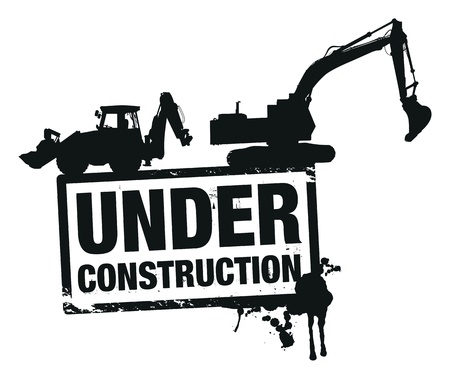 construction crane: website construction  Illustration