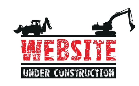 building construction site: website construction  Illustration