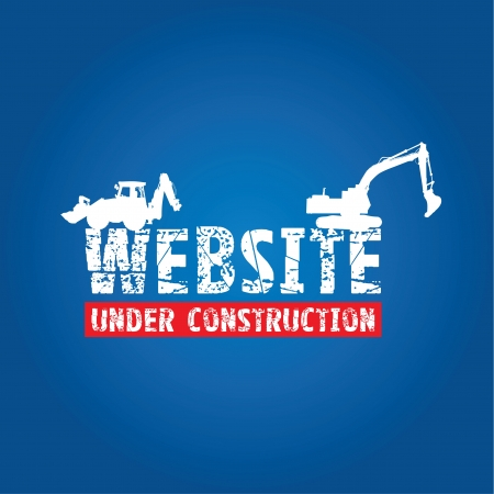 digger: website construction  Illustration