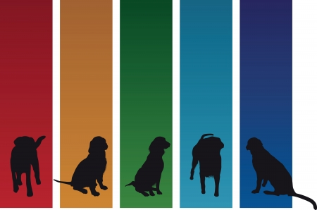 pup: colourful dog banners Illustration