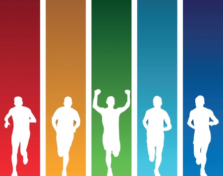 competitions: colourful runners