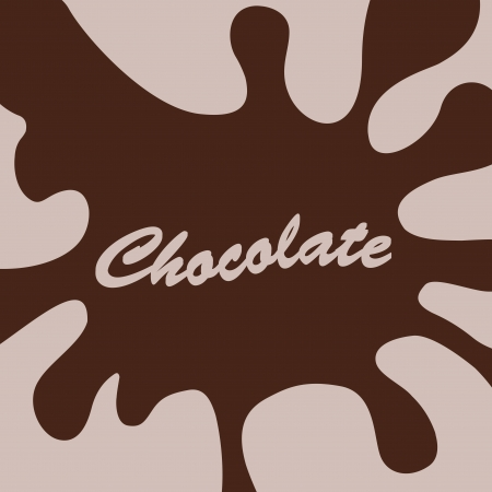 chocolate splash background Vector