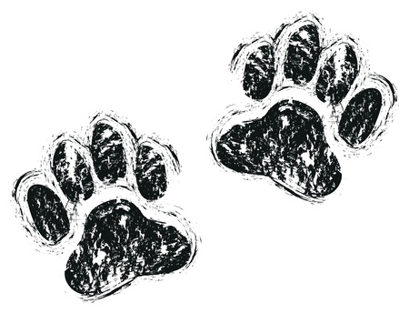 prints mark: dog paws Illustration